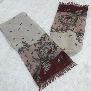 🔥Ornate Asian Flair Peacock Scarf Fall Tapestry